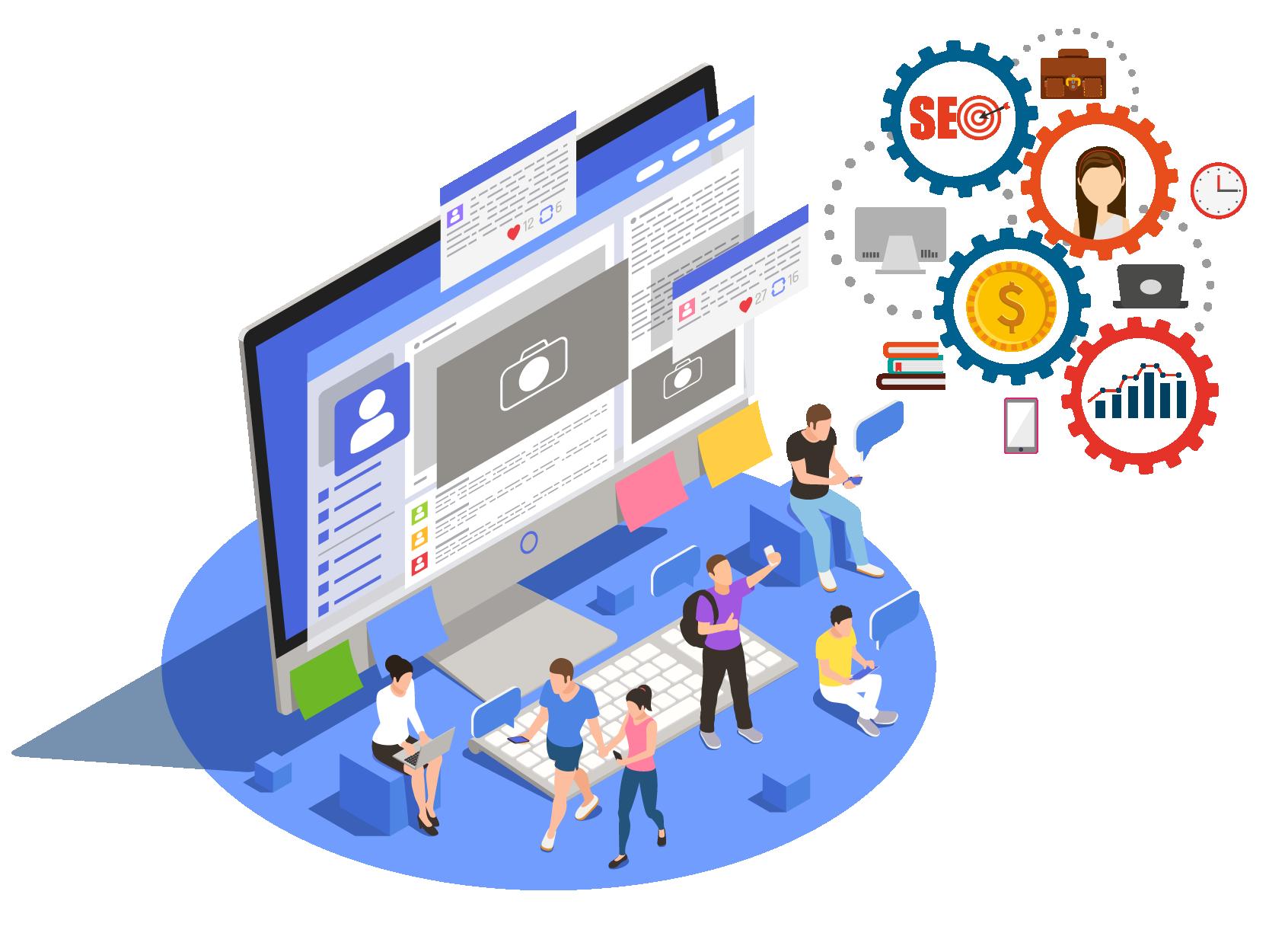 Paid Search Engine, Social Media Marketing
